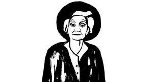Philosopher Mary Midgley, as illustrated for the Notes from a Biscuit Tin project