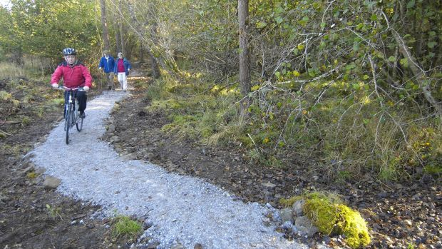 Portumna has a new looped trail too which connects to the town along forest roads with smooth and compact surfaces