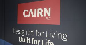 Cairn Homes lost 4.2 per cent to 81c, while Glenveagh Properties edged down 0.3 per cent to 69.5c. Photograph: Nick Bradshaw
