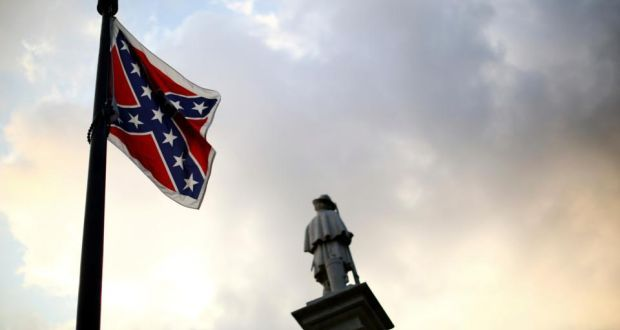 Confederate battle flag flies on the grounds of the South Carolina State House in Columbia. File photograph: Travis Dove/The New York Times
