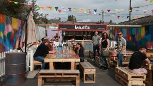 The seating area of Baste BBQ on Clanbrassil Street in Dublin. Photograph: Laura Hutton/The Irish Times