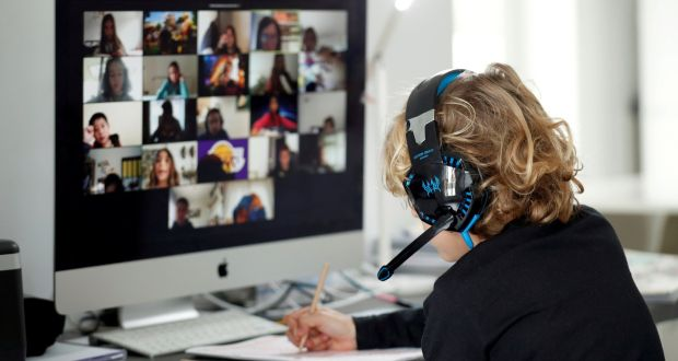 Because of video conferencing, executives are getting more frequent and greater exposure to employees than ever before. Photograph: Albert Gea/Reuters
