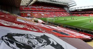Liverpool will lift the Premier League trophy at Anfield tonight. File photograph: Getty Images