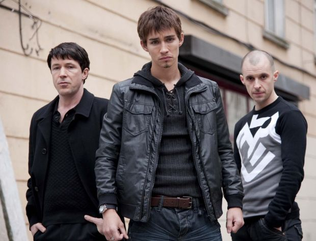 LOVE/HATE: John Boy (Aidan Gillan), Darren (Robert Sheehan) and Nidge (Tom Vaughan Lawlor)
