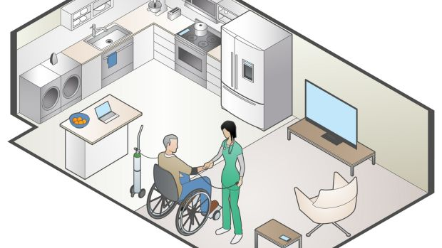 Home care is seen as an attractive solution in the midst of this pandemic as it keeps vulnerable, older people out of higher-risk, congregated settings such as nursing homes. Illustration: Getty Images