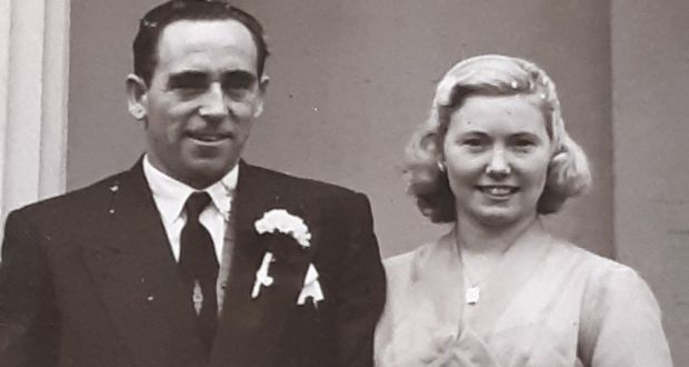 Francie and Kathleen Marry on their wedding day.  Family members say they looked like Humphrey Bogart and Ingrid Bergman