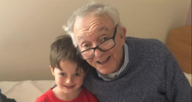 George Callis with his grandson Zach