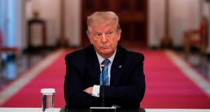 US president Donald Trump said of his cognitive test: 'It's actually not that easy, but for me, it was easy.' Photograph:  Jim Watson/AFP via Getty Images