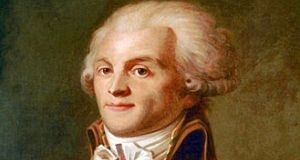 "Robespierre. ""Even the most extreme Irish Greens have little in common with the Montagnards of revolutionary Paris, I know, except perhaps for the commitment to ideological purity and a disdain for the compromises of electoral politics"" Musée Carnavalet, Paris"