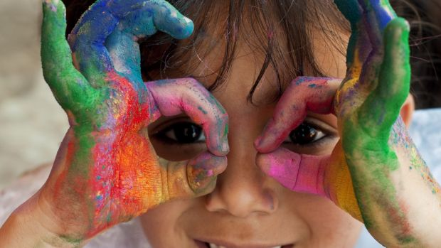 Painting is great activity enjoyed by all ages. Photograph: iStock