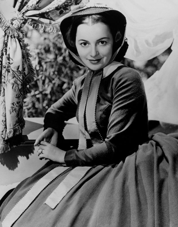 Olivia de Havilland poses for a publicity still for Gone With the Wind in 1939. Photograph: Donaldson Collection/Michael Ochs Archives/Getty Images