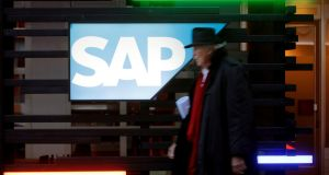 Business software group SAP has been selected by Moderna to help distribute the potential Covid-19 vaccine that the US pharmaceuticals company is developing. Photograph: Reuters