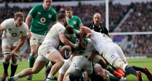 Ireland are set to play England at Twickenham at the end of November after home games against Wales and Fiji in a one-off autumn tournament. Photograph: James Crombie/Inpho