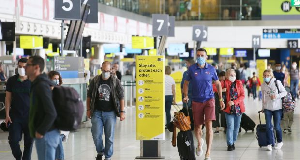 Dublin airport. The DAA says Dublin and Cork airports are losing €1m  a day between them. Photograph:  Stephen Collins/Collins Photos