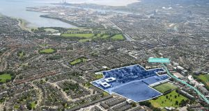 An aerial view of the lands at St Vincent's Hospital in Fairview, shows their close proximity to Dublin city centre