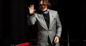 Johnny Depp arrives at the Royal Courts of Justice in London on July 28th, 2020. Photograph: EPA/NEIL HALL