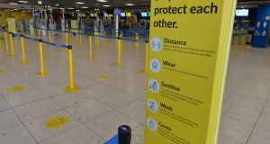 Ryanair Check-in Area at Terminal 1 in Dublin Airport. Photograph: Alan Betson