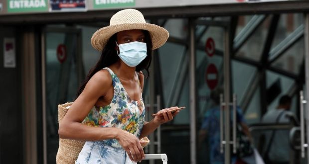"""Foreign travel is the ultimate disease vector. Without it, there would be no pandemic."" Photograph: Mariscal/EPA"