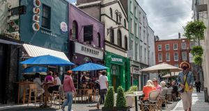 Pembroke Street in Cork, which has recently been pedestrianised as part of the Reimagining Cork City Programme. Photograph: Clare Keogh