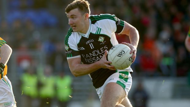 Kerry footballer James O'Donoghue in action for his club Killarney Legion. File photograph: Inpho