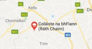 A proposed development of 30 houses and a guesthouse for  the Ráth Chairn Gaeltacht,  Co Meath, has been challenged. Map via Google Maps