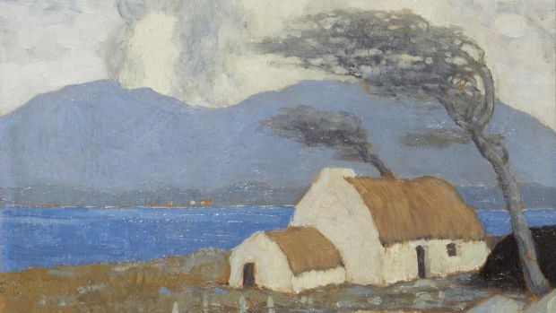 Paul Henry, Achill Cottage, Lough Corrib sold for €116,000 at deVere's.