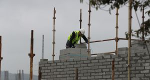 Construction costs account for less than half the overall cost of building a three-bed semi-detached house in Dublin. Photograph: Nick Bradshaw / The Irish Times