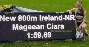 Ciara Mageean became the first Irish woman in history to break the two-minute barrier for the 800m with her victorious run in Bern, Switzerland.