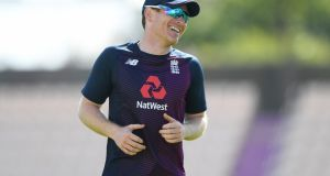 England captain Eoin Morgan ahead of the first ODI against Ireland at Ageas Bowl in Southampton on Thursday. Photograph: Getty Images