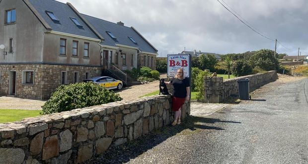 Áine Quigley is deputy manager of a nursing home in the south of England. She is from Blacksod, Co Mayo and is currently quarantining in  self-contained accommodation at her mother and father's B&B, Leim Siar