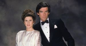 Manssistant: Stephanie Zimbalist, as Laura Holt, and Pierce Brosnan in Remington Steele. Photograph: NBC