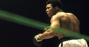 In 1980 Muhammad Ali fought Larry Holmes for the WBC belt in an attempt to win the heavyweight championship a fourth time at 38, but it was not to be. File photograph: The Irish Times