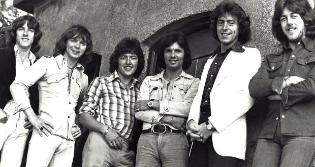The Miami Showband (from left): Tony Geraghty, Fran O'Toole, Ray Millar, Des McAlea (Des Lee), Brain McCory and Stephen Travers. Photograph courtsey of Stephen Travers