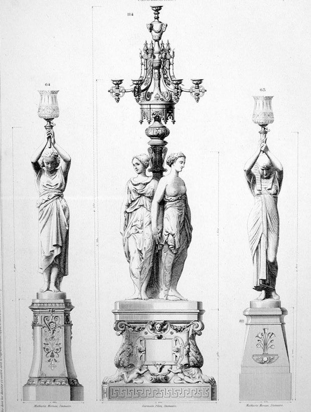 A page of the original catalogue from which the four statues were ordered by the Shelbourne Hotel