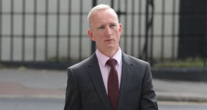 Cahir O'Higgins arriving at the Criminal Courts of Justice  on Parkgate Street in Dublin  for a court appearance on Friday. Photograph: Collins Courts