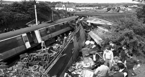 The aftermath of the Buttevant rail crash in  August 1980. Photograph: Irish Examiner
