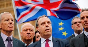 Democratic Unionist Party deputy leader Nigel Dodds: elevated to the House of Lords. Photograph: AFP/Getty Images