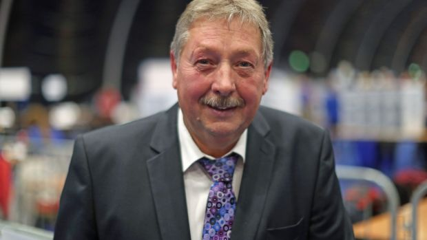 Irish backstop - DUP MP Sammy Wilson. Photograph: Liam McBurney/PA Wire