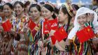 Women in traditional Uighur clothes  in Kashgar, Xinjiang province. File photograph: Reinhard Krause/Reuters