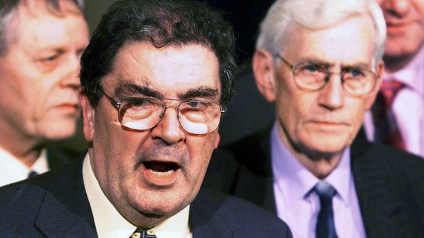 John Hume pictured with Seamus Mallon, who died in January. Photograph: Alan Betson