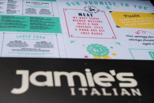 Jamie's Italian: Oliver's restaurant chain went under last year. Photograph: Chris J Ratcliffe/Getty
