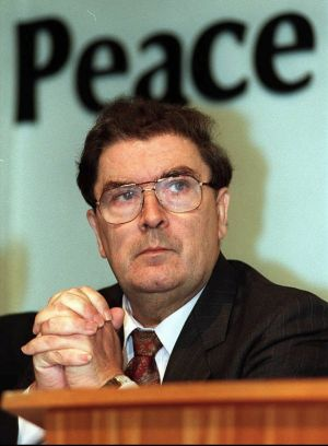 November 1996. John Hume at the SDLP annual conference. Photograph: William Cherry/Pacemaker