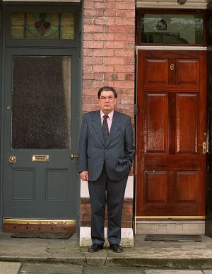 10/03/2000. SDLP party leader John Hume pictured at his home in Derry.