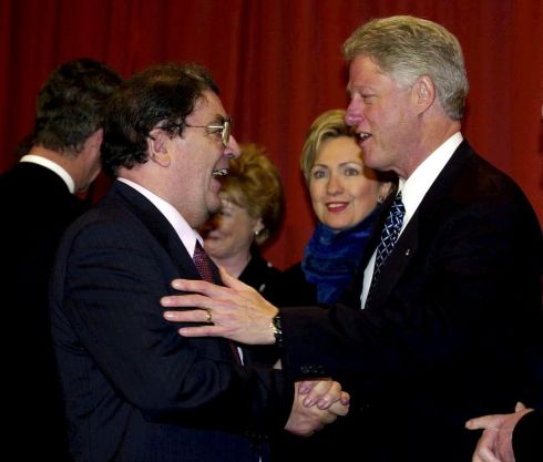 December 2000. US president Bill Clinton with John Hume at the Guinness Storehouse in Dublin 
