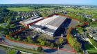 An aerial view of the former ADM Londis HQ in Johnstown, Co Kildare. The property extends to 113,603sq ft and sits on a 5.6 acre site.