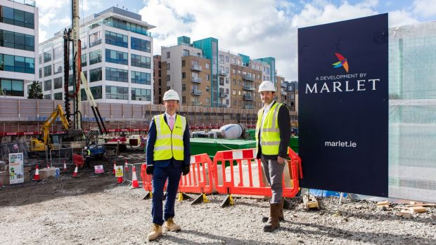 Pat Connolly, project manager for BAM Ireland and Brian Coppinger, head of development at Marlet, at the Lime Street site.