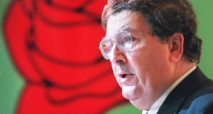 SDLP leader John Hume addressing the party's 28th annual conference  in Newry in May 1998. File photograph: Bryan O'Brien