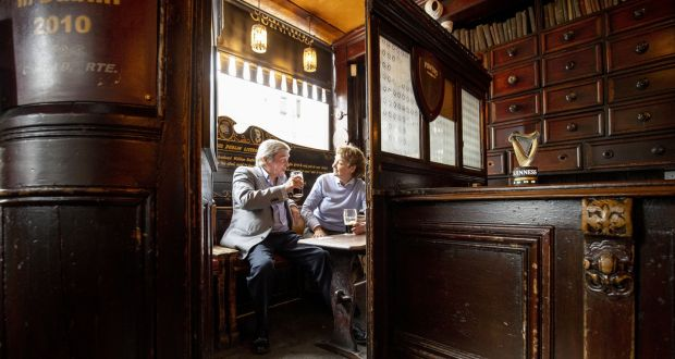 Toners Pub in Dublin serves food and has reopened. 'Wet pubs' must stay closed, the Government said on Tuesday. Photograph: Tom Honan/The Irish Times