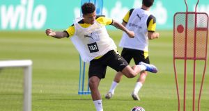 Jadon Sancho's expected arrival  at Old Trafford means  United have a golden chance to firmly re-establish themselves as a force – but more reinforcements are still required. Photograph: Friedmann Vogel/EPA