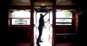 Gary Cusack, owner of Mulligan's pub, Poolbeg St, prepares for reopening. Photograph: Tom Honan